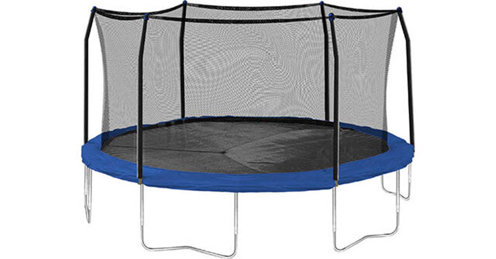 A new, mint condition trampoline