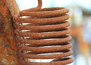 A rusty spring