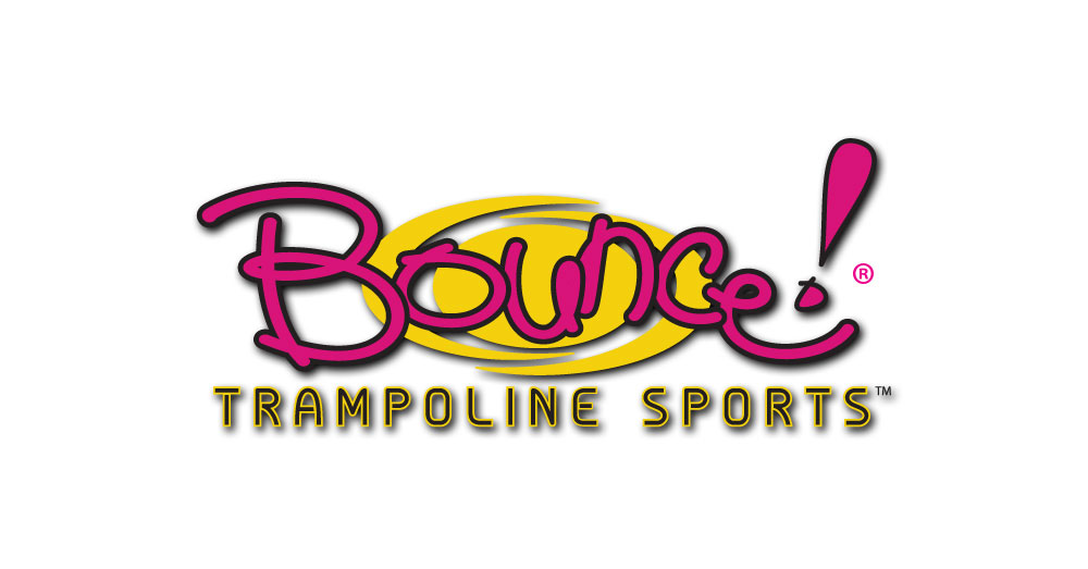 Bounce Trampoline Sports Logo