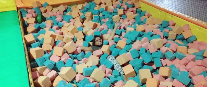 Jumper in a Foam Pit