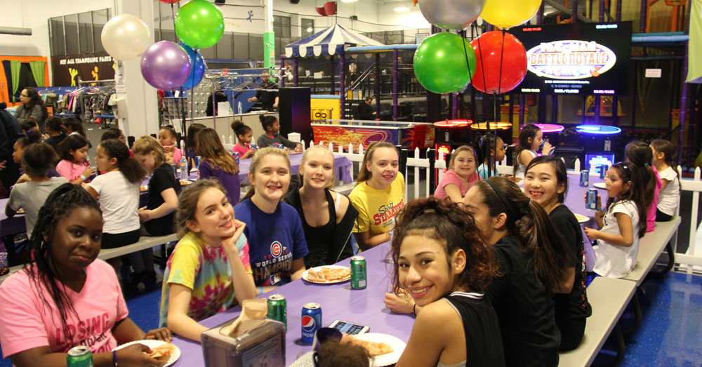 Trampoline Park Birthday Party Group