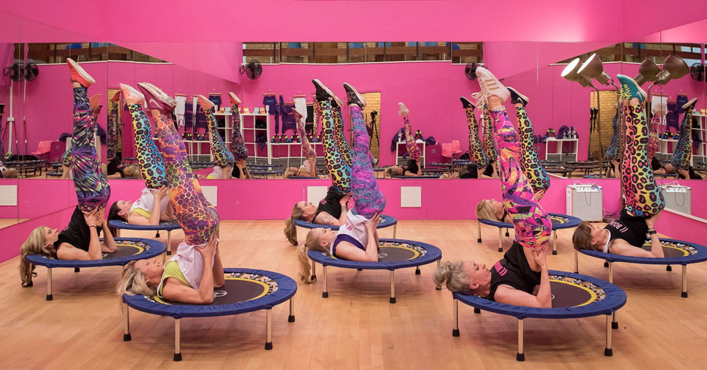Rebounder Trampoline Fitness Class at Bounce