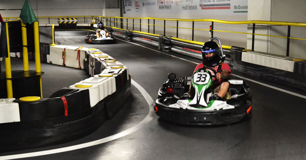 Go Kart Racer in a Turn